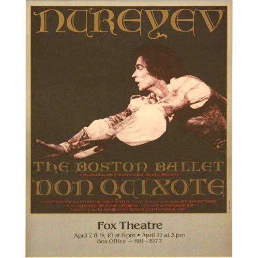 Nureyev Boston Ballet  - Fox Theatre Framed Poster.