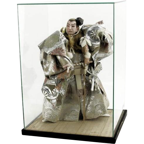 Large Japanese Kabuki Doll of a Samurai, with Display Case