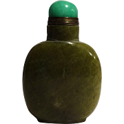 Vintage Green Stone Snuff Bottle