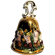 Signed Capodimonte Porcelain Bell/Paperweight