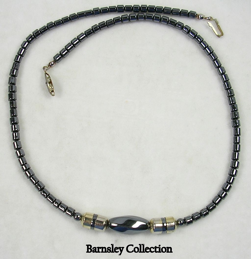 Vintage Hematite Necklace