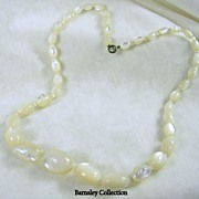 Vintage Beaded Mother of Pearl Necklace