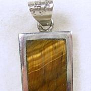 Sterling Silver Tiger's Eye Pendant / Charm