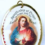 Vintage Apostleship of Prayer Sacred Heart Medal – c. 1930s
