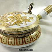 Vintage Collectible Hand Painted Porcelain Butler