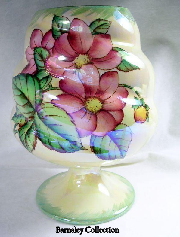 Collectible Maling Lustreware Dahlia Pattern  Vase – c.1930