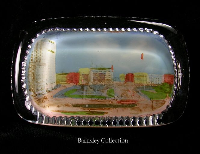 Collectible A.C. Bosselman & Co. Scenic Glass Paperweight – c. 1900