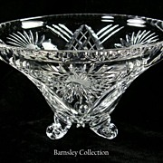 Collectible Cut Glass Crystal Pedestal Bowl – Beautiful