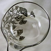 Glass and Silver Plated  Bowl