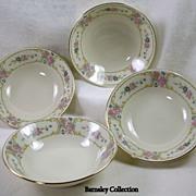 JOHANN HAVILAND Set of Four of Bavarian China Bowls
