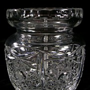 Vintage Pressed Glass Jar