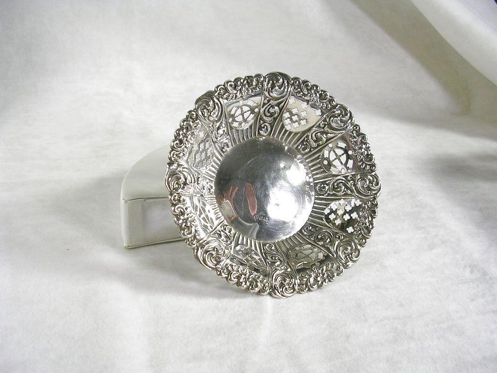 Victorian Silver Bonbon Dish – c. 1898 – Beautiful!