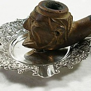 Art Nouveau Silver Plated Ashtray by van Dijk – Beautiful!