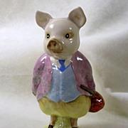 Signed Beatrix Potter's Pigling Bland Vintage Vagabond Pig Figurine