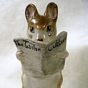 Signed Beatrix Potter's Tailor of Gloucester, Vintage Mouse Figurine-Copyright 1949
