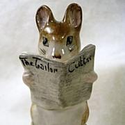 Signed Beatrix Potter's Tailor of Gloucester, Vintage Mouse Figurine-Copyright 1949