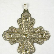 Vintage Reed & Barton Sterling Silver Gold Wash Cross Pendant – Special Cross – c. 1972