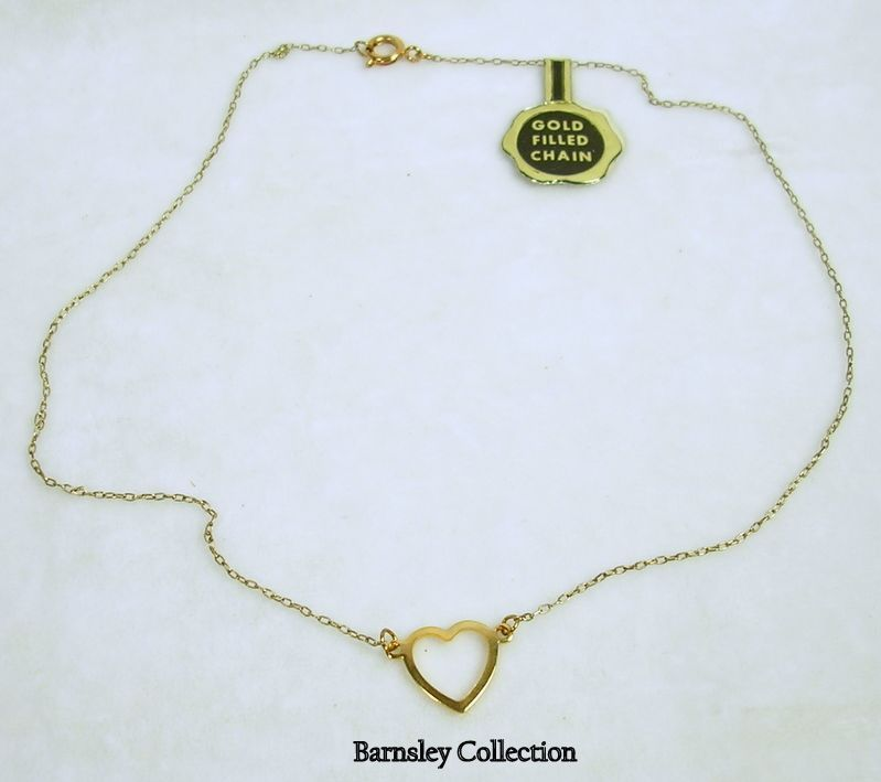 Vintage Gold Filled Heart Necklace