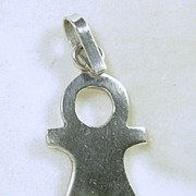 Signed and Numbered Mexico, Sterling Silver Child Pendant