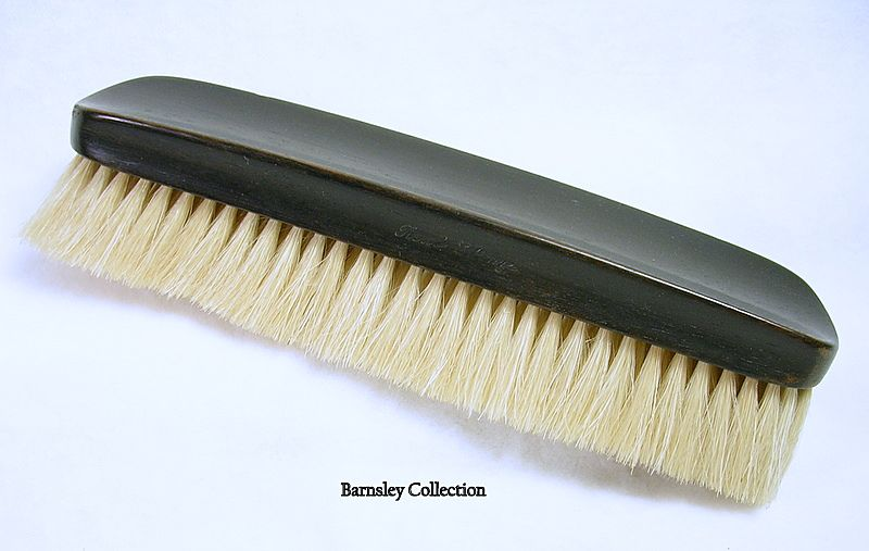 Signed Real Ebony Grooming Brush