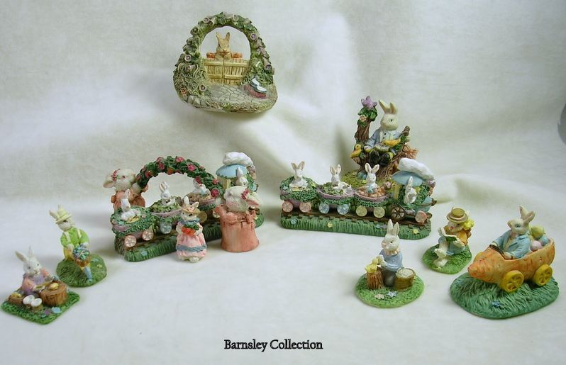 Collectible Easter Village with Bunnies and Baby Chicks
