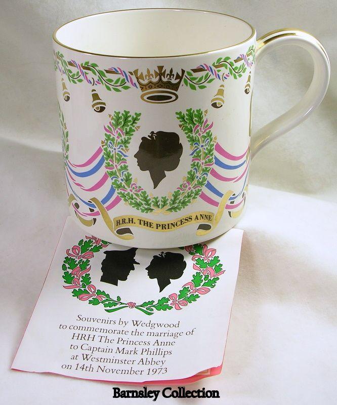 Princess Anne and Captain Mark Phillips' Wedding Wedgewood 1 Pint Mug