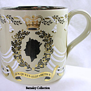 Wedgwood 25th Silver Wedding Mug for Queen Elizabeth II and Prince Philip