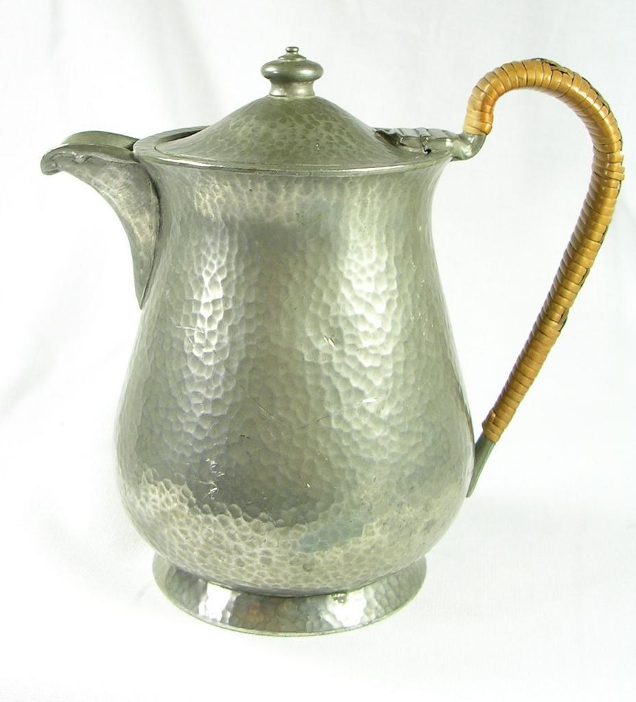 English Hand Hammered Pewter Coffee Tea Pot
