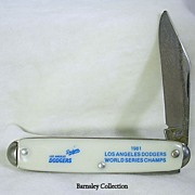 Vintage L.A. Dodgers World Series Champions Pocket Knife - 1981