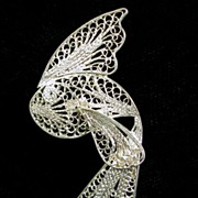 Vintage Sterling Silver Filigree Koi Fish – Beautiful!