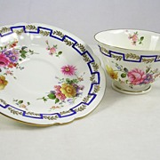 Royal Crown Derby Tea Cup and Saucer China Porcelain
