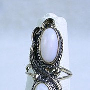 Old Pawn Sterling Silver Mother of Pearl Ring