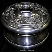 Vintage Silver Plated Vanity Hair Pot