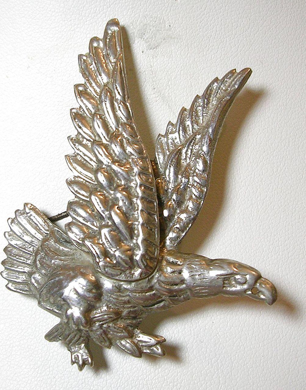 Vintage Bald Eagle Sterling Silver Pin Brooch – c. 1960