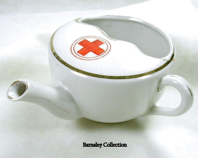 Vintage Red Cross Porcelain Invalid Feeder