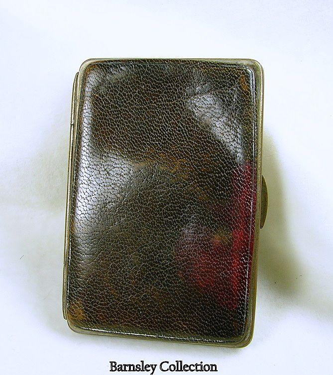 Vintage Leather Card or Stamp Holder
