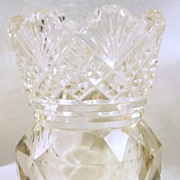 Collectible Two-Tone Cut Glass Tooth Pick Holder