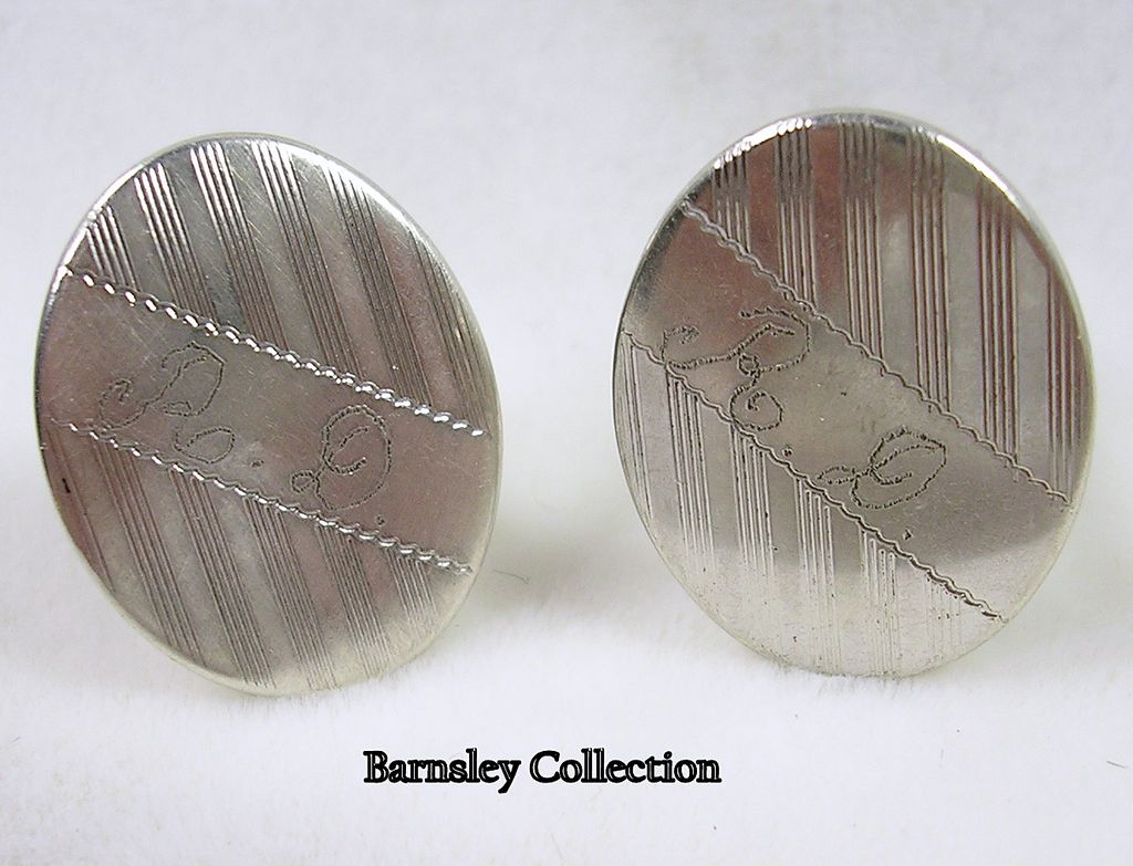 Signed Anson Sterling Silver Cuff Links