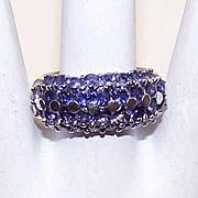 Really Cute STERLING SILVER & Rhinestone Fashion Ring!