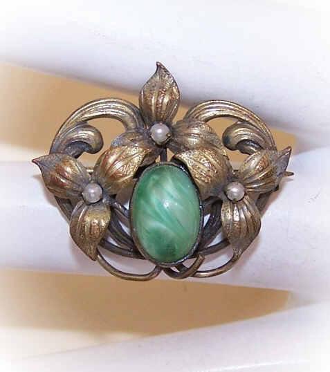 ANTIQUE EDWARDIAN Gold Filled & Faux Gemstone Scatter Pin/Brooch!