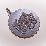 HAPPY BIRTHDAY Vintage Sterling Silver Charm by Beau!