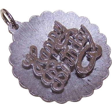 Vintage Sterling Silver Charm by Beau - Happy Birthday