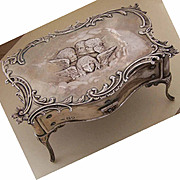 RARE Dtd 1903 WILLIAM COMYNS Sterling Silver Jewelry Box on Legs!