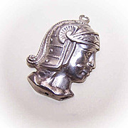 Vintage STERLING SILVER Charm - Head of a Conquistador!
