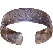 Flexible STERLING SILVER Repousse Cuff Bracelet by Di Vera!