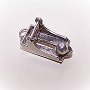 Vintage STERLING SILVER Charm - Bowling Lane with Ball!