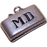 Vintage Sterling Silver Charm - MD Bag with Baby!