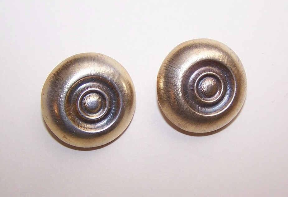 Vintage STERLING SILVER Vermeil Clip Back Earrings!