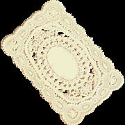 Genuine ANTIQUE VICTORIAN Paper Lace - Ornate Oval Center