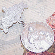 Vintage Religious Badge/Pin  of Aluminum - Sodality (Saint Ann and the Virgin Mary)